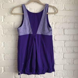 Lululemon Athletic Yoga Tank Top Purple Large sZ 8